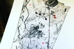Erosion, plexigravure